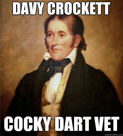 Davy Crockett Cocky Dart Vet