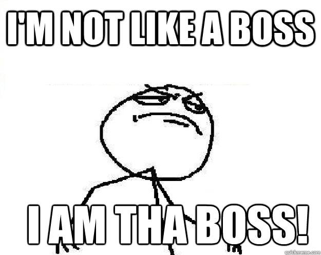 I'm not like a boss I am tha boss!