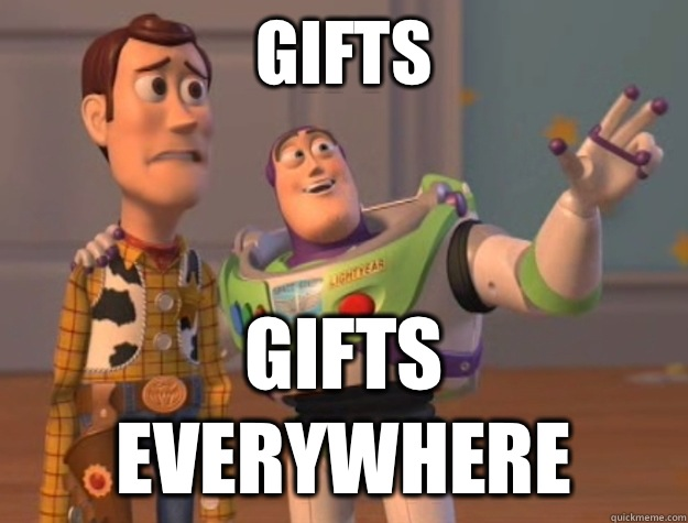 Gifts Gifts everywhere  Buzz Lightyear