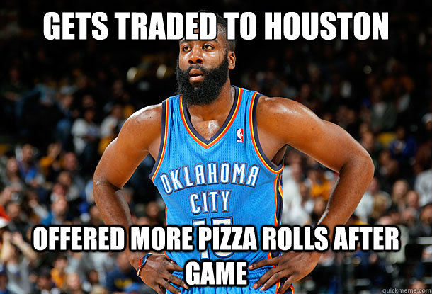 29652f0b692 Gets traded to houston Offered more pizza rolls after game - James ...