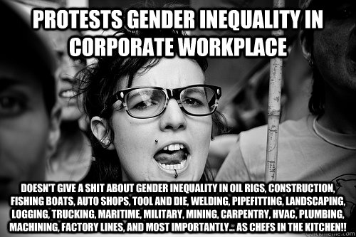 Protests Gender Inequality In Corporate Workplace Doesnt Give A