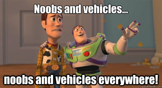 Noobs and vehicles... noobs and vehicles everywhere! - Noobs and vehicles... noobs and vehicles everywhere!  Toy Story Everywhere