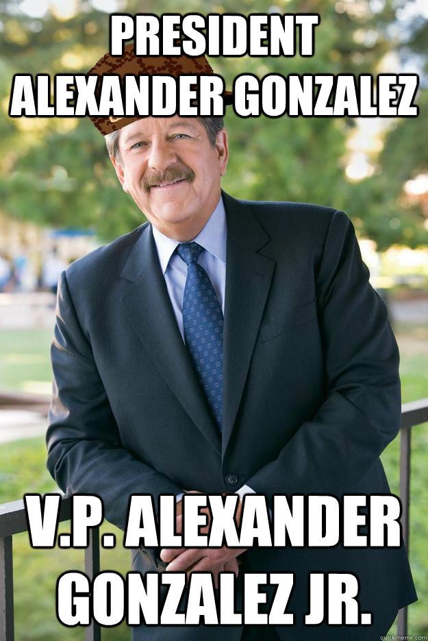President Alexander Gonzalez v.p. alexander gonzalez jr.