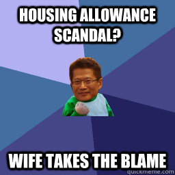 housing allowance scandal? wife takes the blame - housing allowance scandal? wife takes the blame  Misc