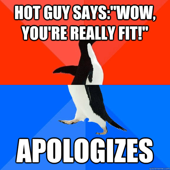 Hot guy says: