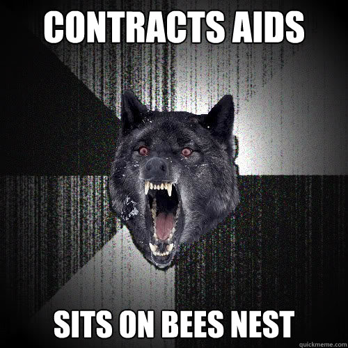 Contracts AIDS sits on bees nest