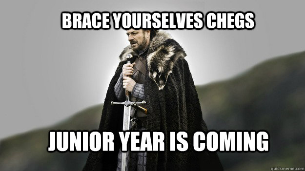 Brace yourselves Chegs Junior Year is Coming - Brace yourselves Chegs Junior Year is Coming  Ned stark winter is coming