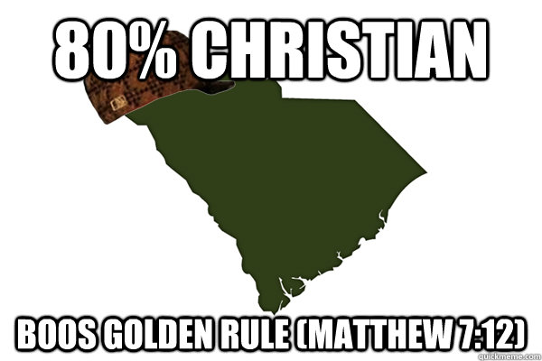 80% Christian Boos Golden Rule (Matthew 7:12)