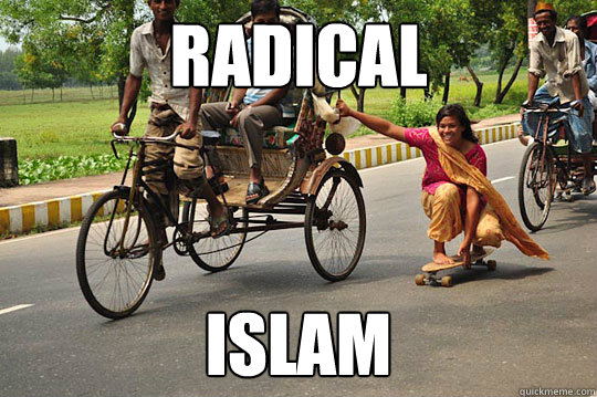 radical islam - radical islam  skating indian woman
