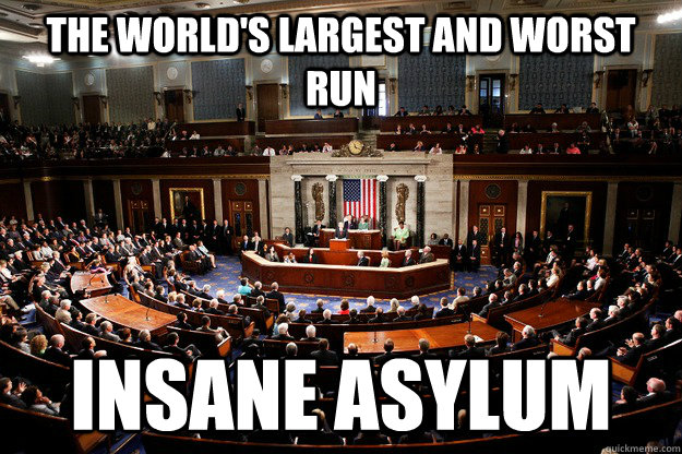 the world's largest and worst run insane asylum - the world's largest and worst run insane asylum  insane congress