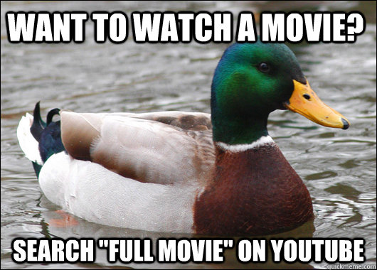 Want to watch a movie? Search