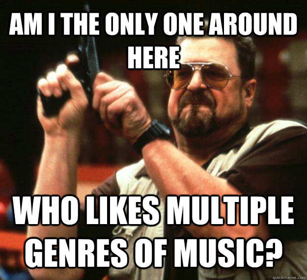 AM I THE ONLY ONE AROUND HERE who likes multiple genres of music? - AM I THE ONLY ONE AROUND HERE who likes multiple genres of music?  Angry Walter