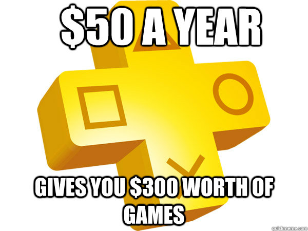 $50 a year gives you $300 worth of games - $50 a year gives you $300 worth of games  Misc