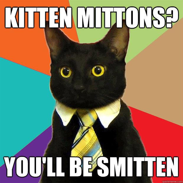 Kitten Mittons Youll Be Smitten Business Cat Quickmeme