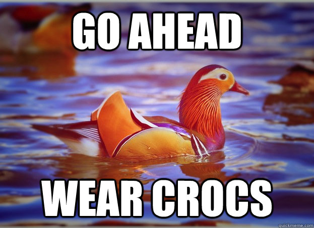 Go ahead Wear crocs  Malicious Fashion Advice Mallard