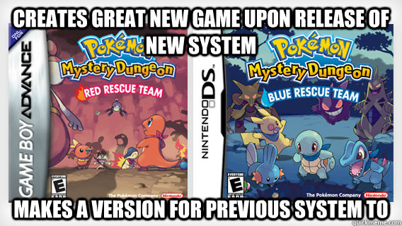 Creates great new Game upon release of new system Makes a version for previous system to