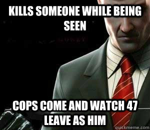 Kills someone while being seen Cops come and watch 47 leave as him
