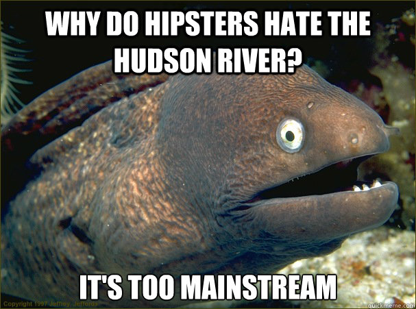 Why do hipsters hate the Hudson river? It's too mainstream - Why do hipsters hate the Hudson river? It's too mainstream  Bad Joke Eel