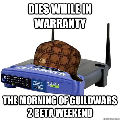 dies while in warranty the morning of guildwars 2 beta weekend