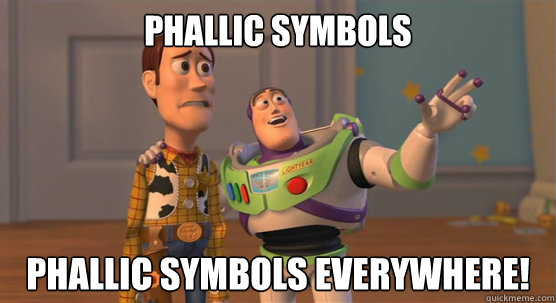 phallic symbols phallic symbols everywhere! - phallic symbols phallic symbols everywhere!  Toy Story Everywhere