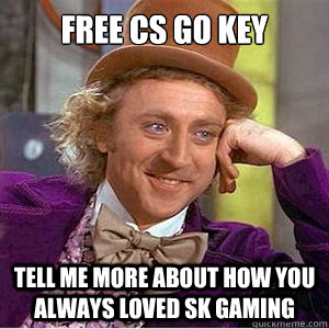 FRee cs go key Tell me more about how you always loved sk gaming