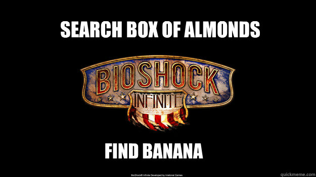 Search box of almonds find banana