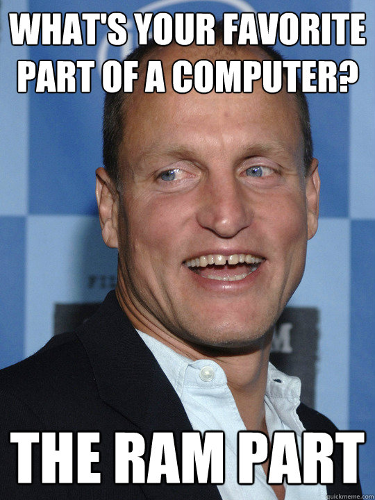 what's your favorite part of a computer? the ram part - what's your favorite part of a computer? the ram part  Woody