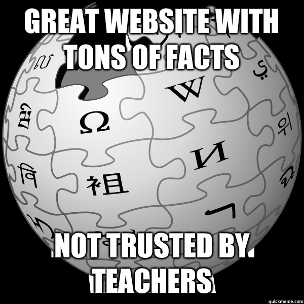 Great website with tons of facts Not trusted by teachers