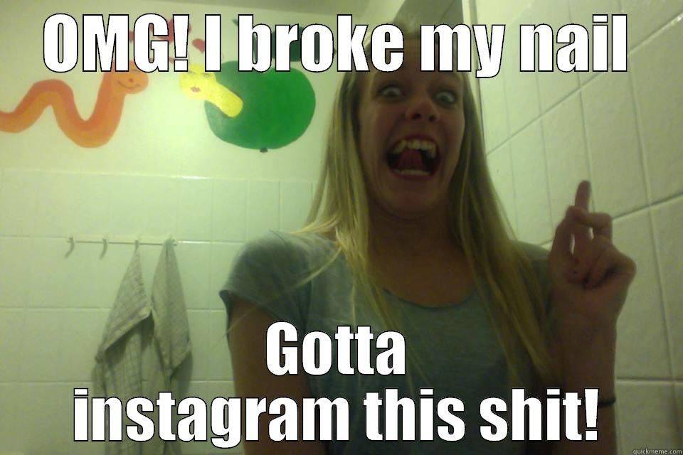 Funny Meme Nails : Omg! instagram quickmeme