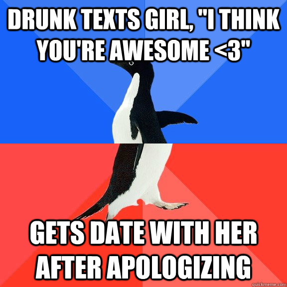 Drunk texts girl,