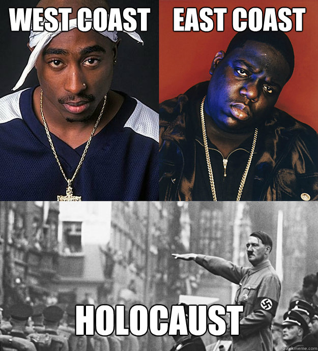 west coast east coast holocaust  Hitler