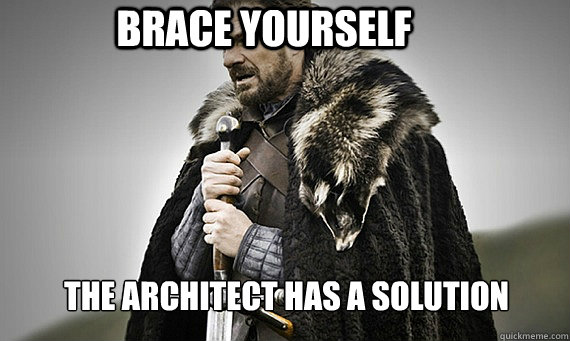 Brace Yourself The Architect has a solution - Brace Yourself The Architect has a solution  IC Game of Thrones