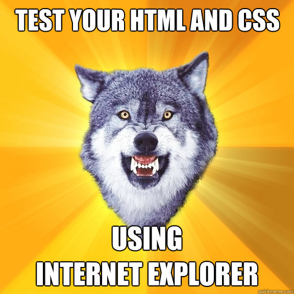 test your html and css using  internet explorer - test your html and css using  internet explorer  Courage Wolf