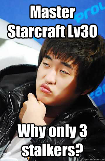 Master Starcraft Lv30 Why only 3 stalkers?