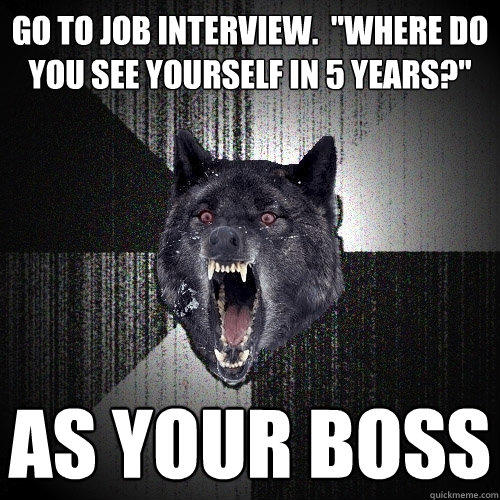 go to job interview.