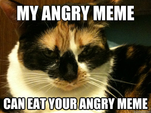 my angry meme can eat your angry meme - my angry meme can eat your angry meme  Angry Cat