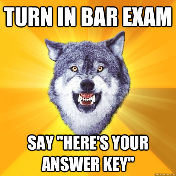 turn in bar exaM say