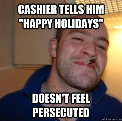 Cashier tells him