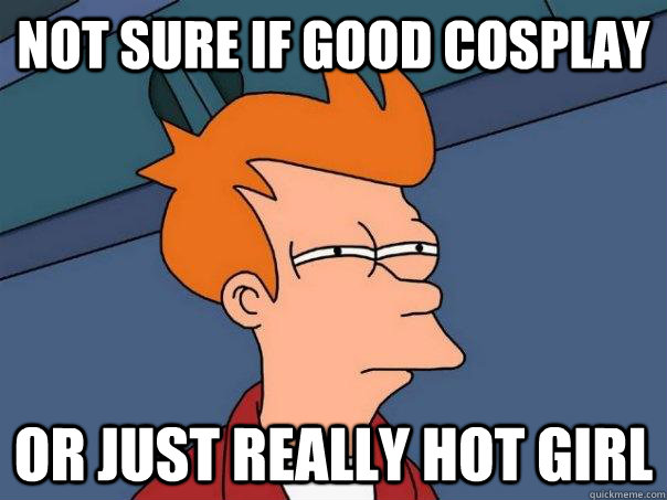 Not sure if good cosplay or just really hot girl - Not sure if good cosplay or just really hot girl  Futurama Fry