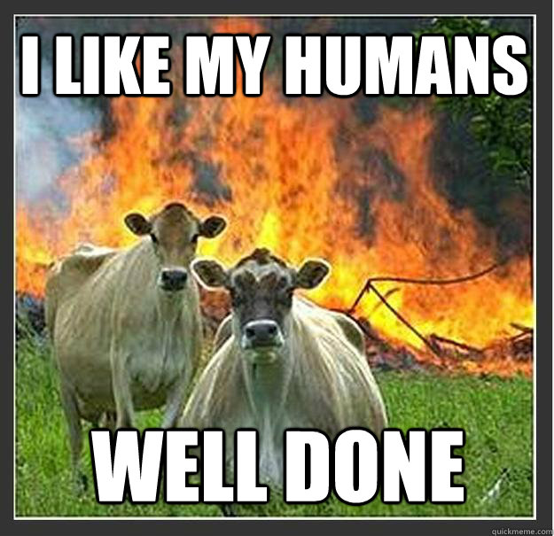 i like my humans Well done - i like my humans Well done  Evil cows