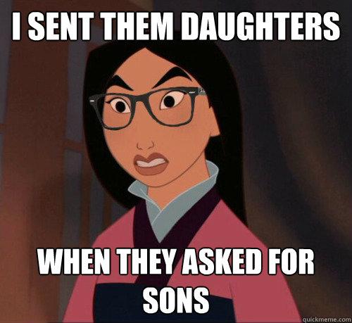 Hipster Mulan memes   quickmeme