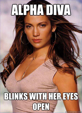 Alpha Diva blinks with her eyes open - Alpha Diva blinks with her eyes open  Alpha Diva