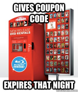 gives coupon code Expires that night