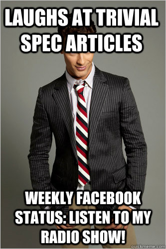 laughs at trivial spec articles weekly facebook status ...