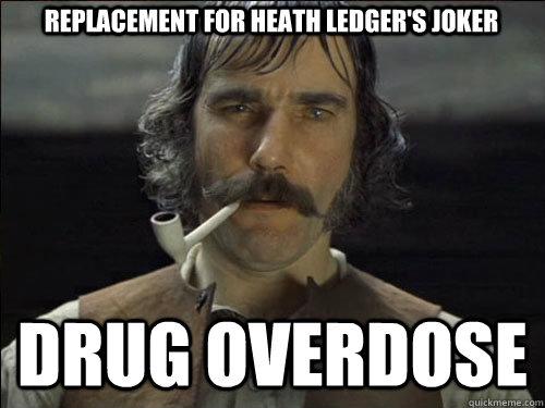 replacement for heath ledger s joker drug overdose overly