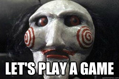 Resultado de imagen para saw let's play a game