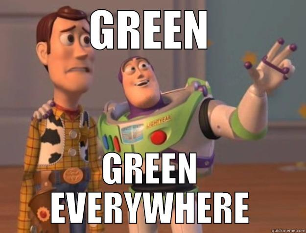 GREEN GREEN EVERYWHERE Toy Story