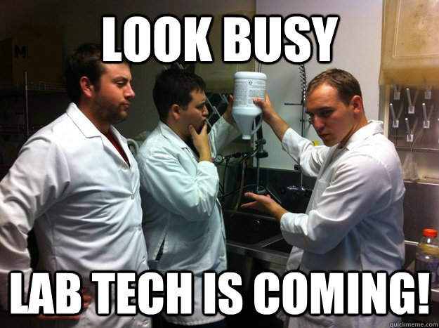 look busy Lab Tech is coming! - look busy Lab Tech is coming!  science