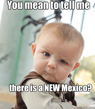 You mean to tell me there is a NEW Mexico?