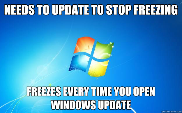 Needs to update to stop freezing freezes every time you open windows update